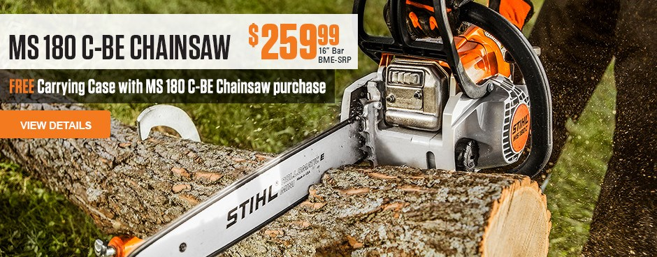 Free Carrying Case with MS 180 C-BE Chainsaw purchase